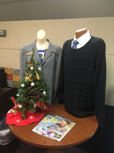 The Career Services office has mannequins to show proper professional dress. Virginia Beach, VA. Nov. 2017. (Shelly Slocum)