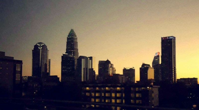 The Charlotte skyline, Charlotte, N.C., Sept. 2015. (Sara Waits)