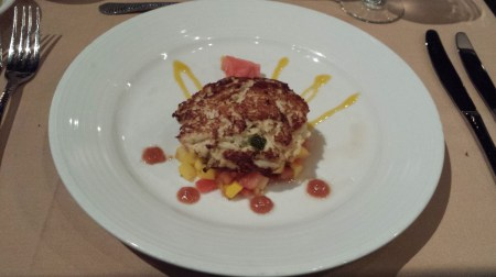 Crab Cake with Mango Salsa at Everglades Restaurant