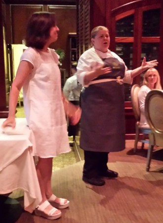 Coastal LIving's Tracey Minkin and Chef Michelle Weaver of Charleston Grill