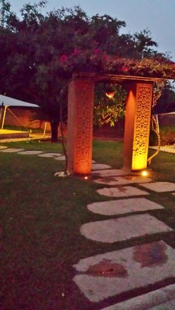 Walkway and Gate Between the Tents
