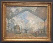 La Gare Saint Lazare by Claude Monet