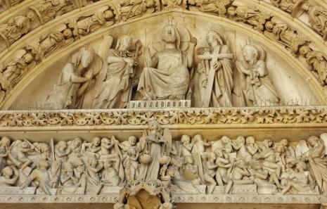 Last Judgement over West Portal of Sainte-Chapelle