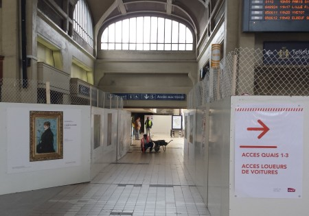 Main Hallway of Gare Rive Droite Clogged by Renovation Work