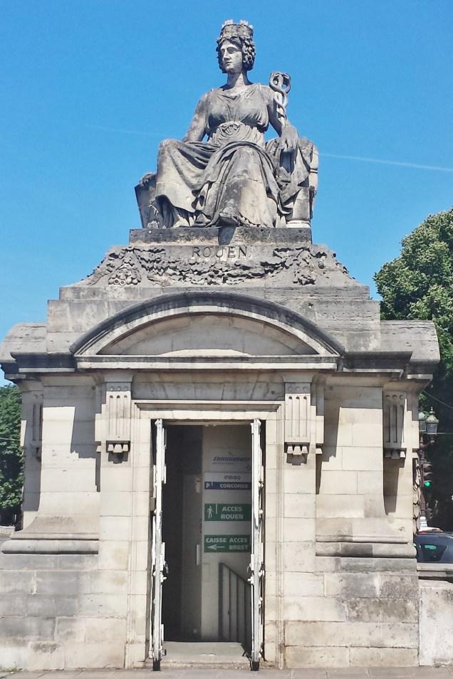 Rouen Statue on Corner of Place de la Concorde