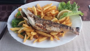Baked Trout and Fries