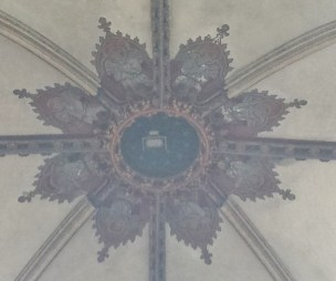 Bayeux Cathedral Ceiling Decoration at Crossing