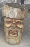 Carved Head Outside of Daskalov House