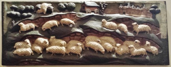 Rouen Antiquities Museum Panel of Sheep
