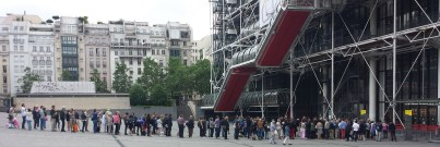 Sunday Morning Line into Centre Pompidou