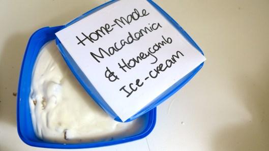 Macadamia and Honeycomb Ice-cream