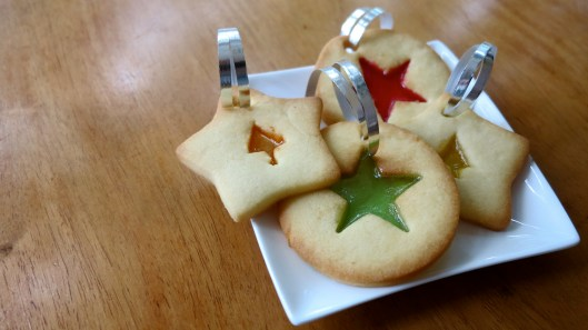 stained-glass christmas cookies