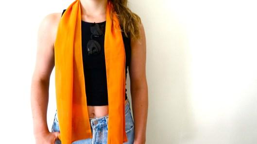 orange statement scarf