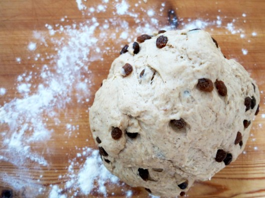 chai hot cross bun dough