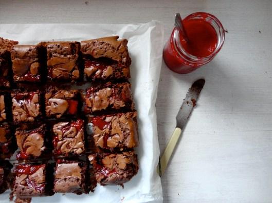 rustic raspberry brownies