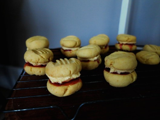 yo yos filled with raspberry jam