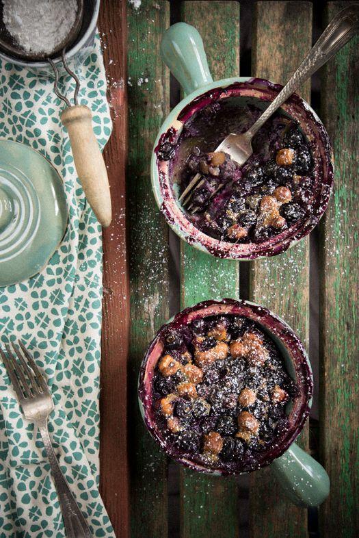 Blueberry hazelnut clafoutis