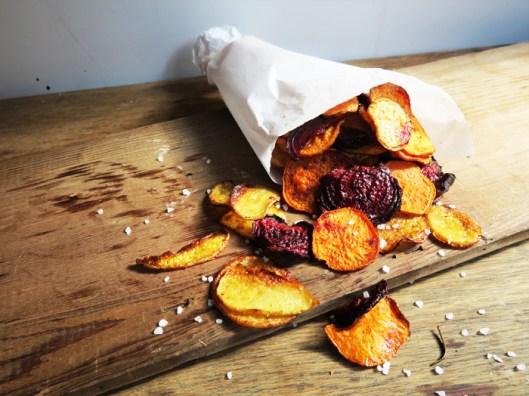 oven baked veggie chips