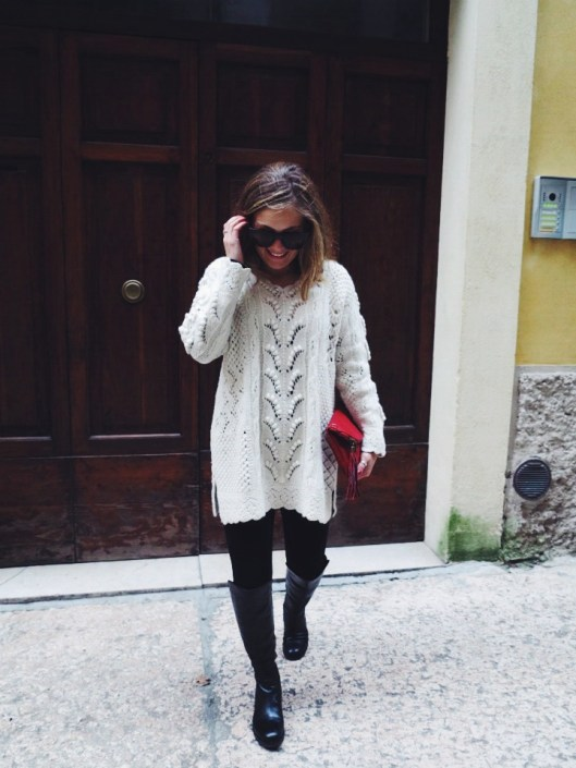 Boots & oversized knit