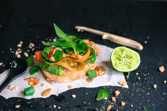 vietnamese avocado on bread