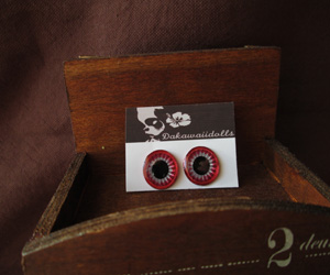 Custom Blythe Eye-chip Shine Silver and Metal Blood Red EC-24A