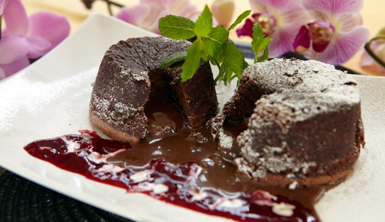 Chocolate fondant with oozing lava