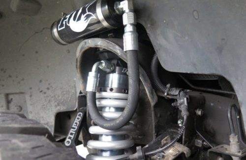 FOX 2.5 Factory Series Coil-Over Reservoir on a GMC 1500