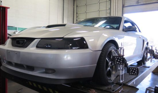 Ford Mustang looking aggressive with new Eibach Sportline coilsprings