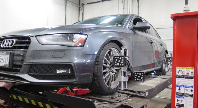 Audi S4 in for H&R Performance Springs at Dales Auto Service