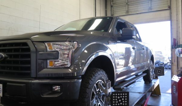 2016 Ford F-150 TRUXXX Level off kit installed at Dales Auto Service