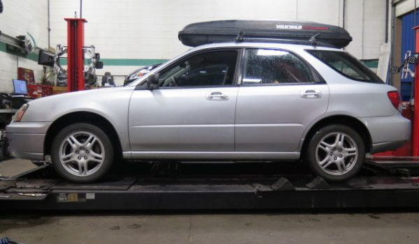 '04-05 Impreza with King Raised Rally Springs w/KYB Excel-G struts at Dales Auto Service