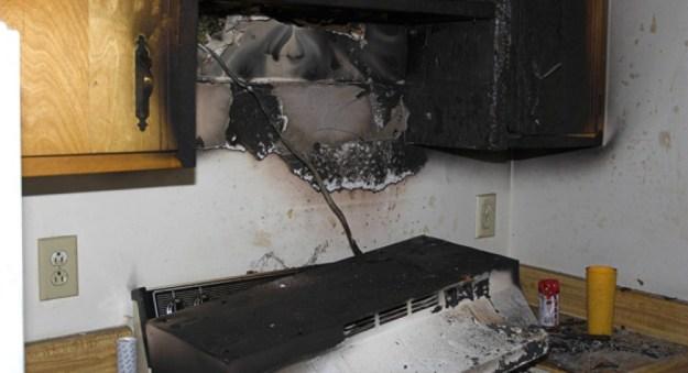Fire Damaged Kitchen in Orlando