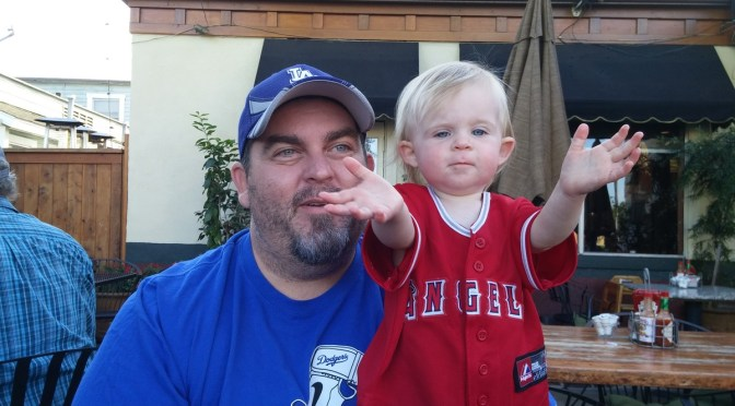 Abby and I Cheering on our teams for the end of the season!
