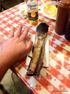 The beef rib bone is as big as my arm!