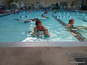 Abby and Kelly at swim class
