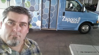 Taking the Zappos tour with my coworkers.