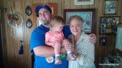 Great Grandma Ivalou, Abby, and I.