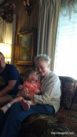 Abby with Great Grandma.
