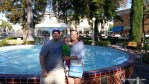 One last picture at the fountain in Orange, CA