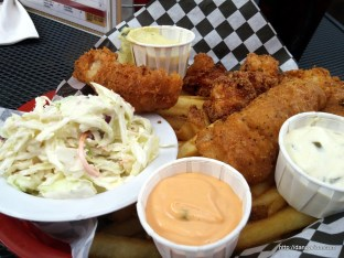 This photo of Fish and Chips from Acme Cafe is for Doug.