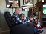 Grandpa reading to Abby