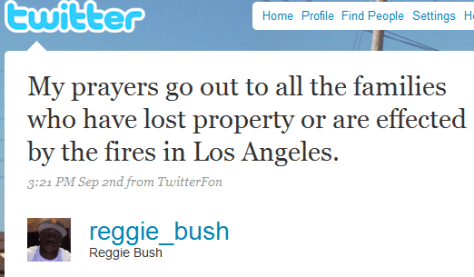 Reggie Bush, effected does not mean what you think it means...