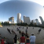 "Cloud Gate: Chicago's big ""egg"" sculpture at Millenium Park"