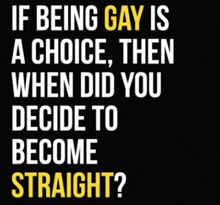 is being gay is a choice when did you decide to become straight