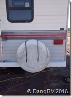 RV bumper painted