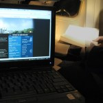 Blogging on a plane - photo