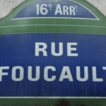 street sign photo: rue foucault