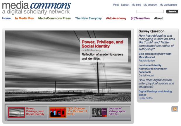 MediaCommons screen capture