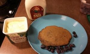 buckwheat and oatmeal pancakes