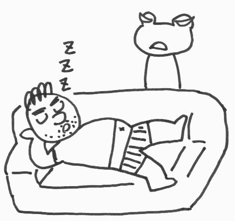 ソファー寝